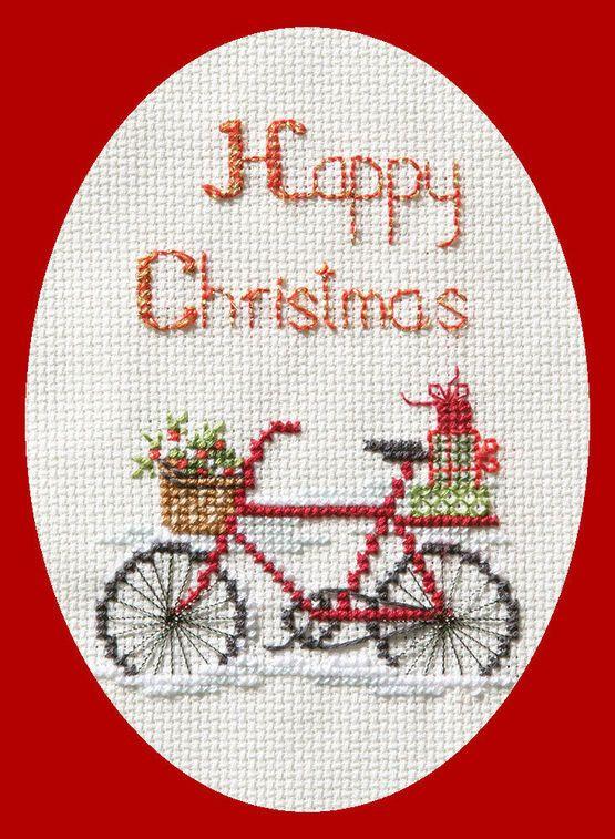 Christmas Delivery Cross Stitch Card Kit   Patrones de punto de cruz ...