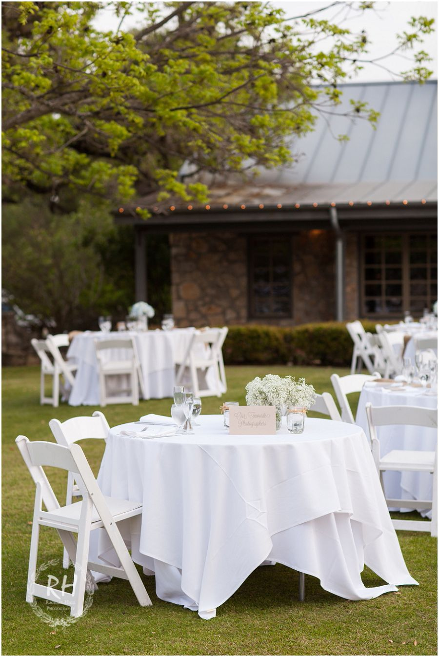 Outdoor Wedding Reception At Canyon Springs Golf Club San Antonio TX