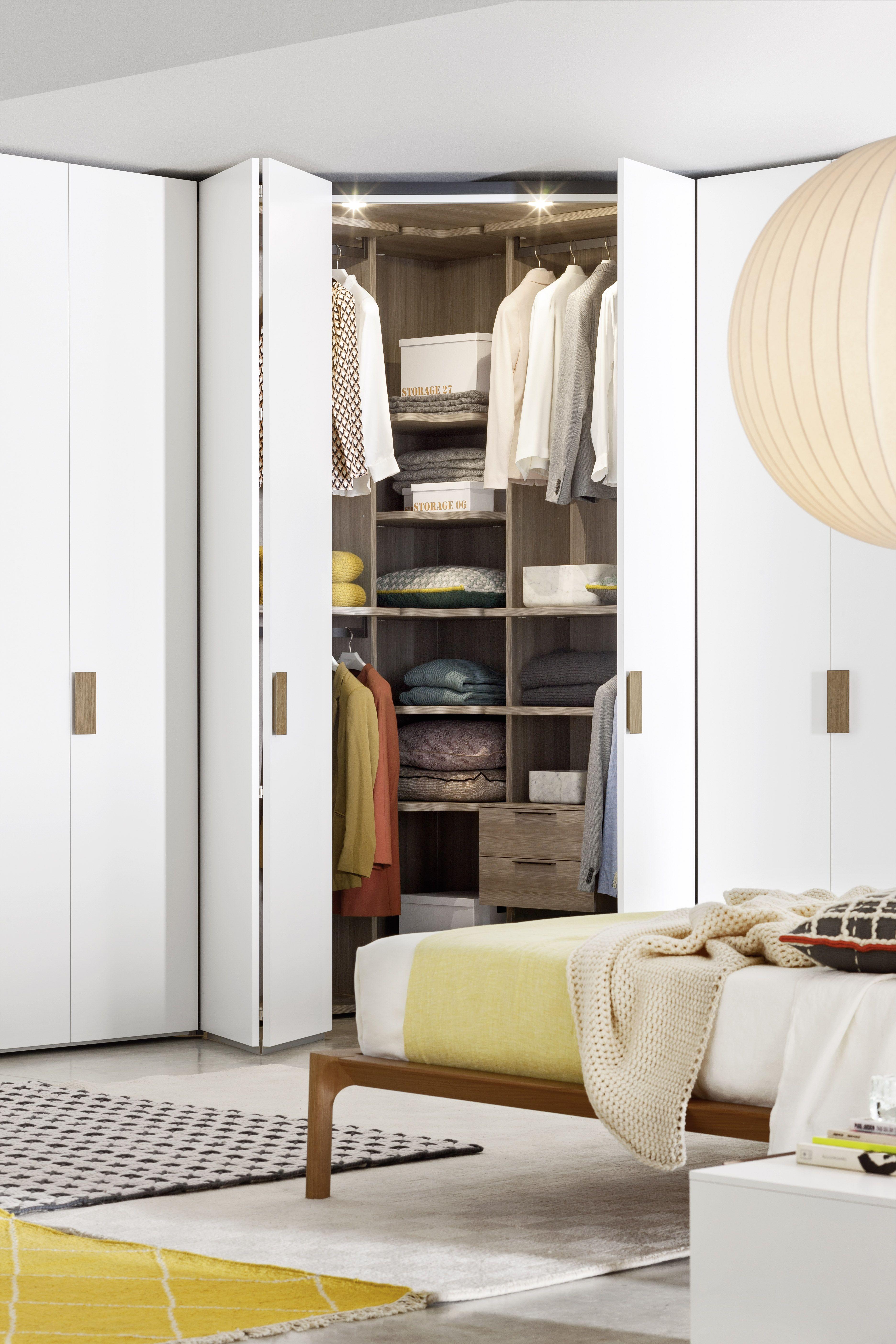 Novamobili Kleiderschrank #Schlafzimmer #Eckschrank #Einbauschrank