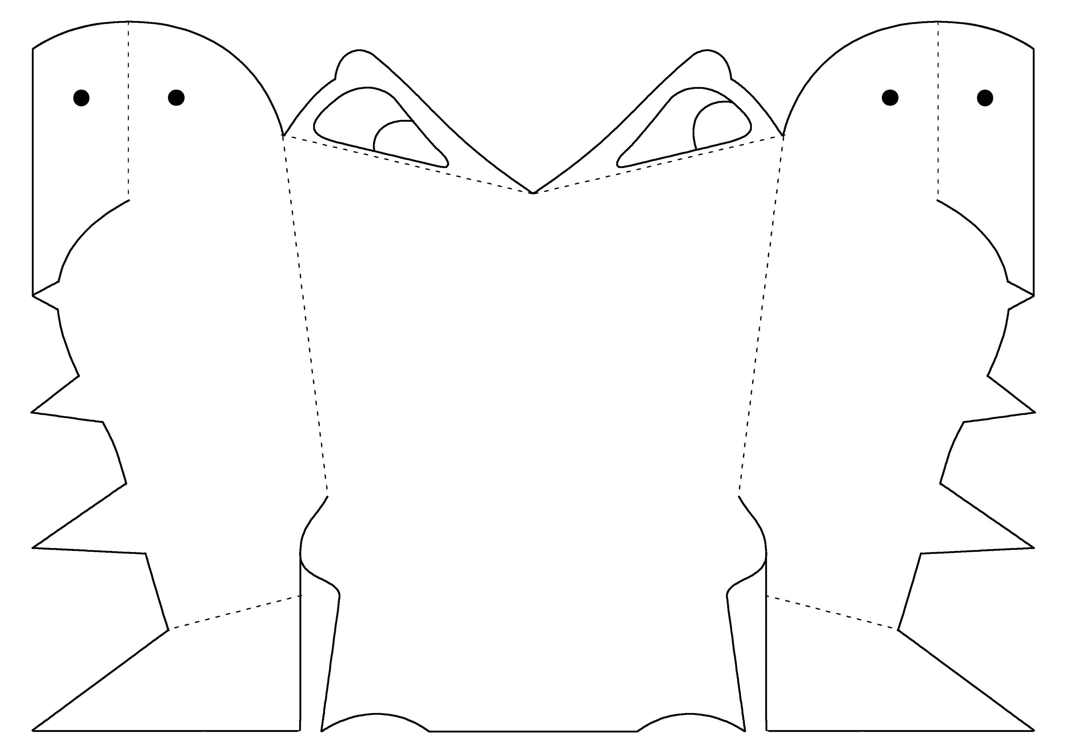 Dinosaurroar Dinosaur Roar Mask Template By Paul Stickland In Black Amp White For Children To