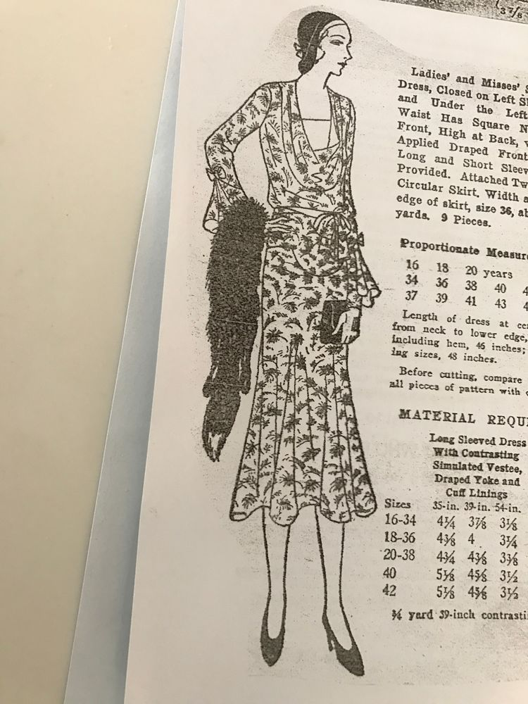 Antique Sewing Pattern- 1920's  # 923