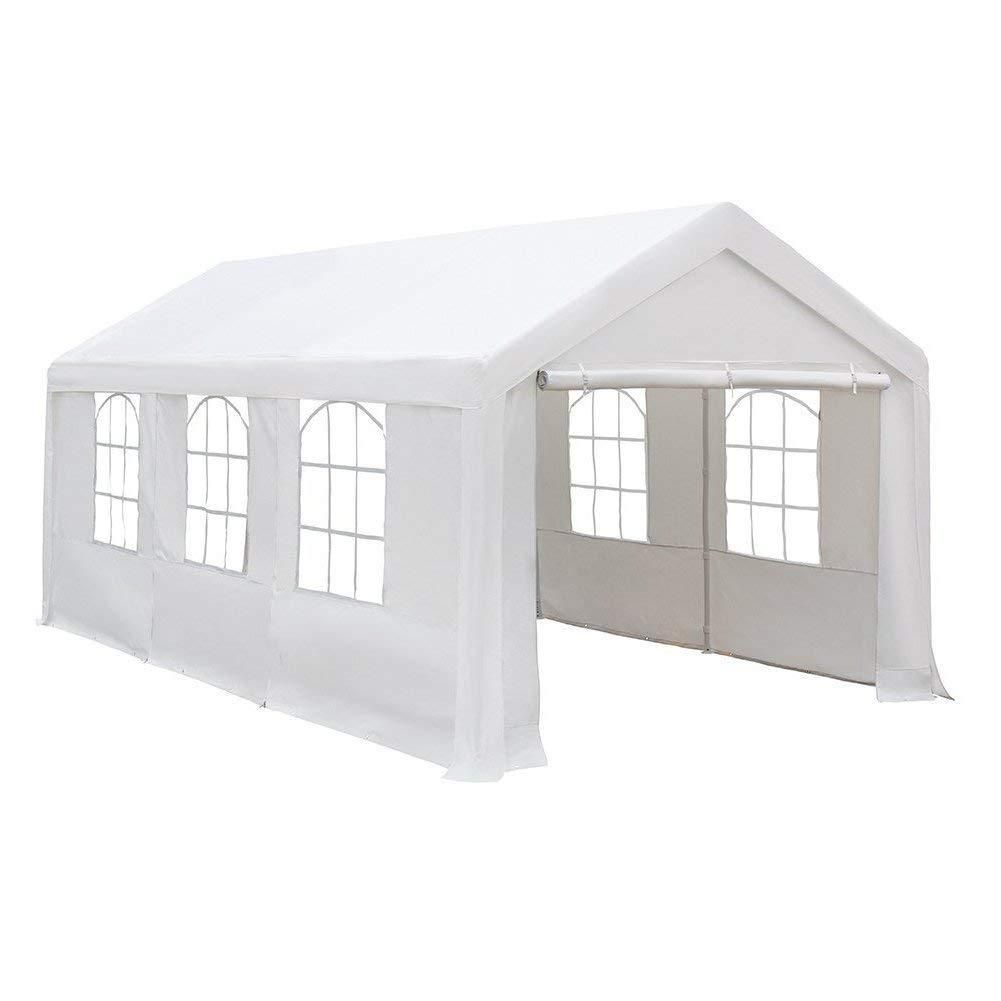 Replacement Of Cover For 3x6m Car Canopy White Frame Roof And End Panel Not Include Canopy Tent Car Canopy Canopy Shelter