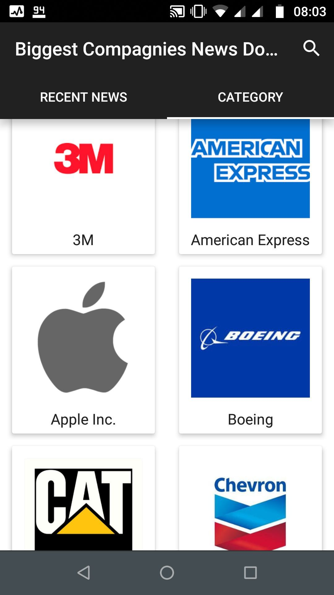 Mobile App: Biggest Companies News Dow Jones News gives you the latest news from the world's largest companies. #companies #news #dowjones #nasdaq #love #followme #me