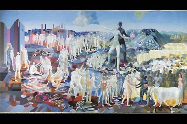 Arne Ekeland Frihetens søstre. Malte undergang og paradis. Trodde på kunstens kraft til forandre samfunnet. Kommunist. vl.no
