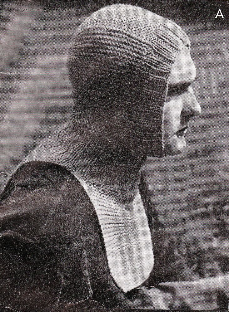 Vintage Knitting Pattern Instructions For A Mens Wwii Services