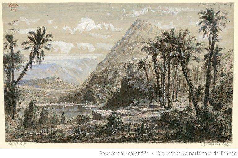 [La reine de Saba : esquisse de décor de l'acte III : campagne boisée / Hugues Martin] - 1862