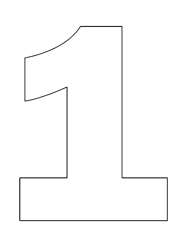 Picture Of Number One Coloring Page Netart Molde Numero 1 Moldes Em Eva Molde De Numeros