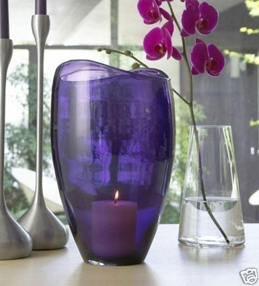 PartyLite Amethyst Purple Large Glass Hurricane Vase Candle Holder RARE NIB  #PartyLite #HurricaneCandleHolderorVase