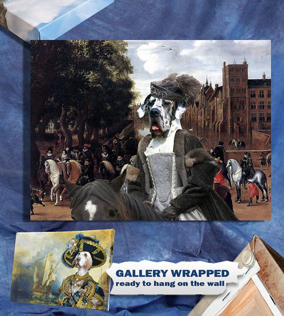 Great Dane Art Print Canvas Artwork  GALLERY by NobilityDogs, $59.90