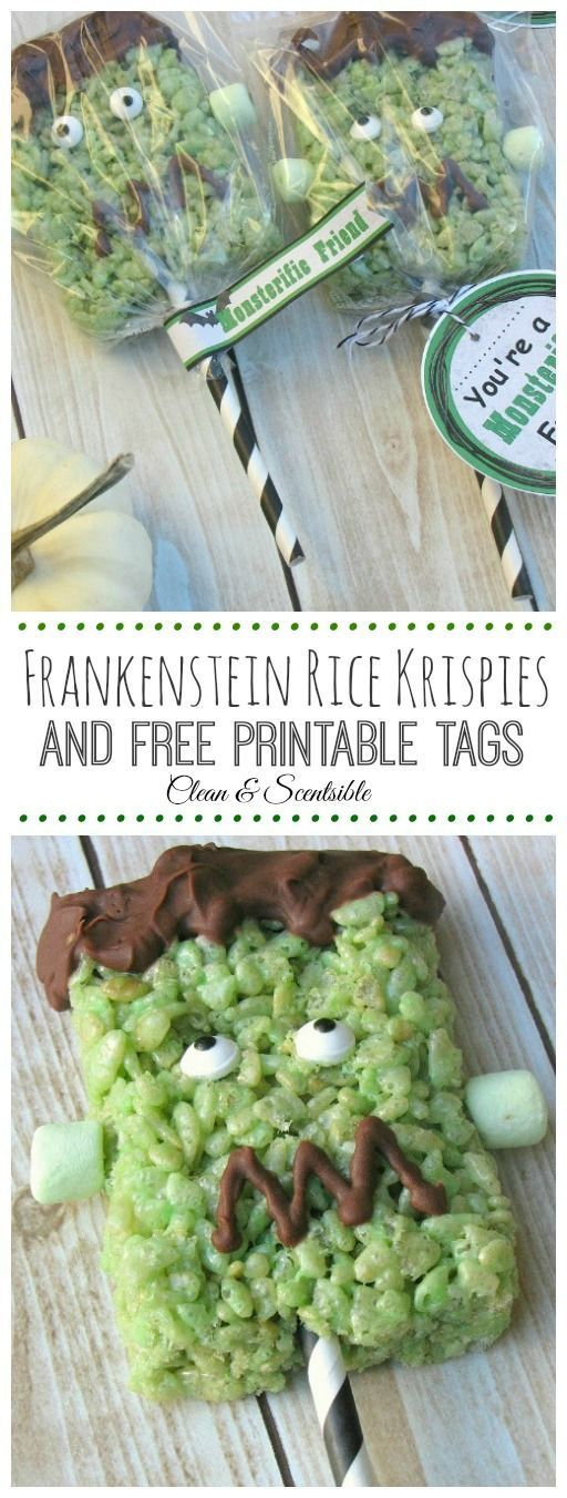frankenstein rice krispie treats recipe frankenstein free printable and rice