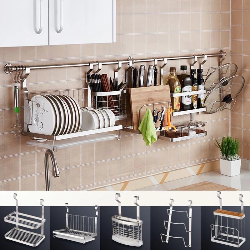 Stainless Steel Wall Mounted Kitchen Accessories Kitchen Storage