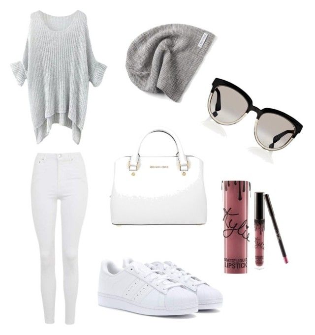 Relax by caroline-m-arendt on Polyvore featuring polyvore, fashion, style, Topshop, adidas, Michael Kors, Converse, Christian Dior, Kylie Cosmetics and clothing