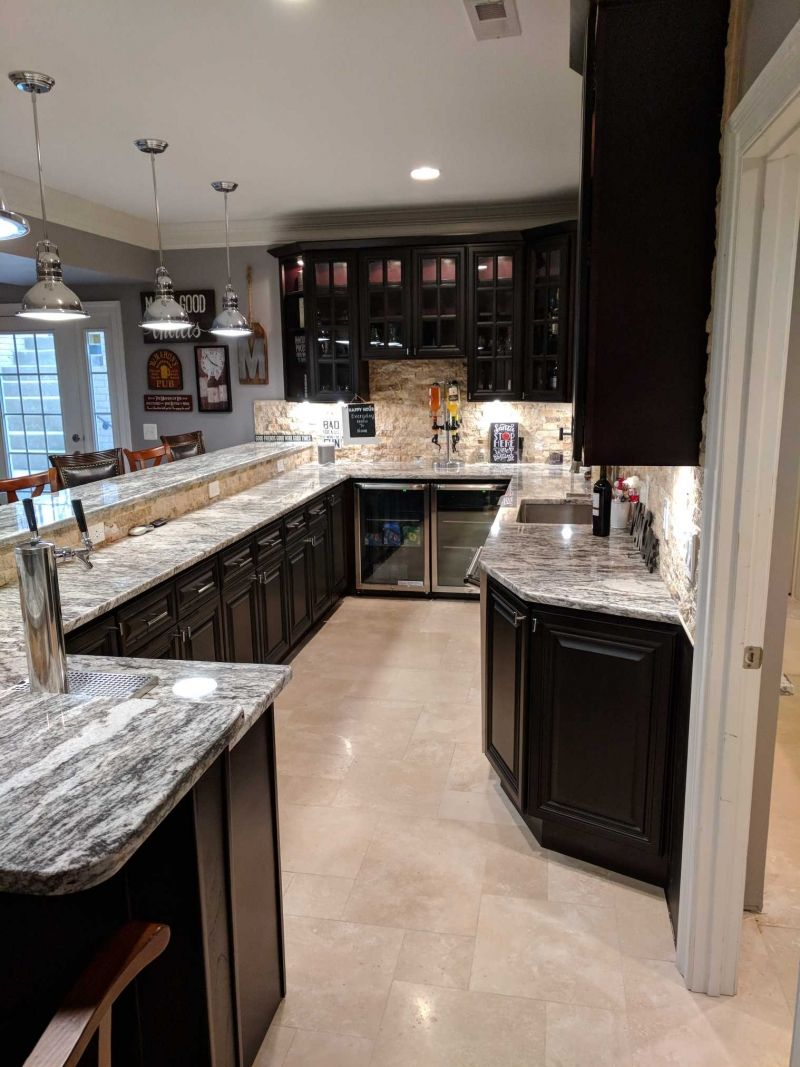 Kitchen Wine Cellar Makeover In Espresso Water Based Wood Stain Water Based Wood Stain Stained Kitchen Cabinets Kitchen Cabinet Colors