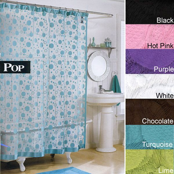 Pop Modern Knit Lace Shower Curtain - Inexpensive Lace Shower ...