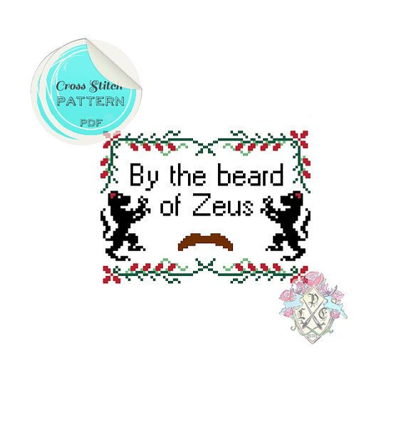 By the beard of Zeus. Anchorman Cross Stitch Pattern. $4.09 plasticlittlecovers