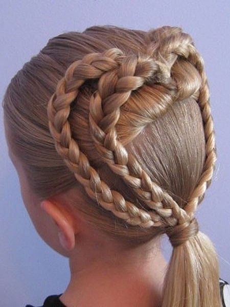 Double heart braid #cute #girl #braids