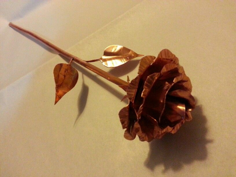 Handmade copper rose made by me. Can be found at my Etsy shop at https://www.etsy.com/shop/SellingMyWares