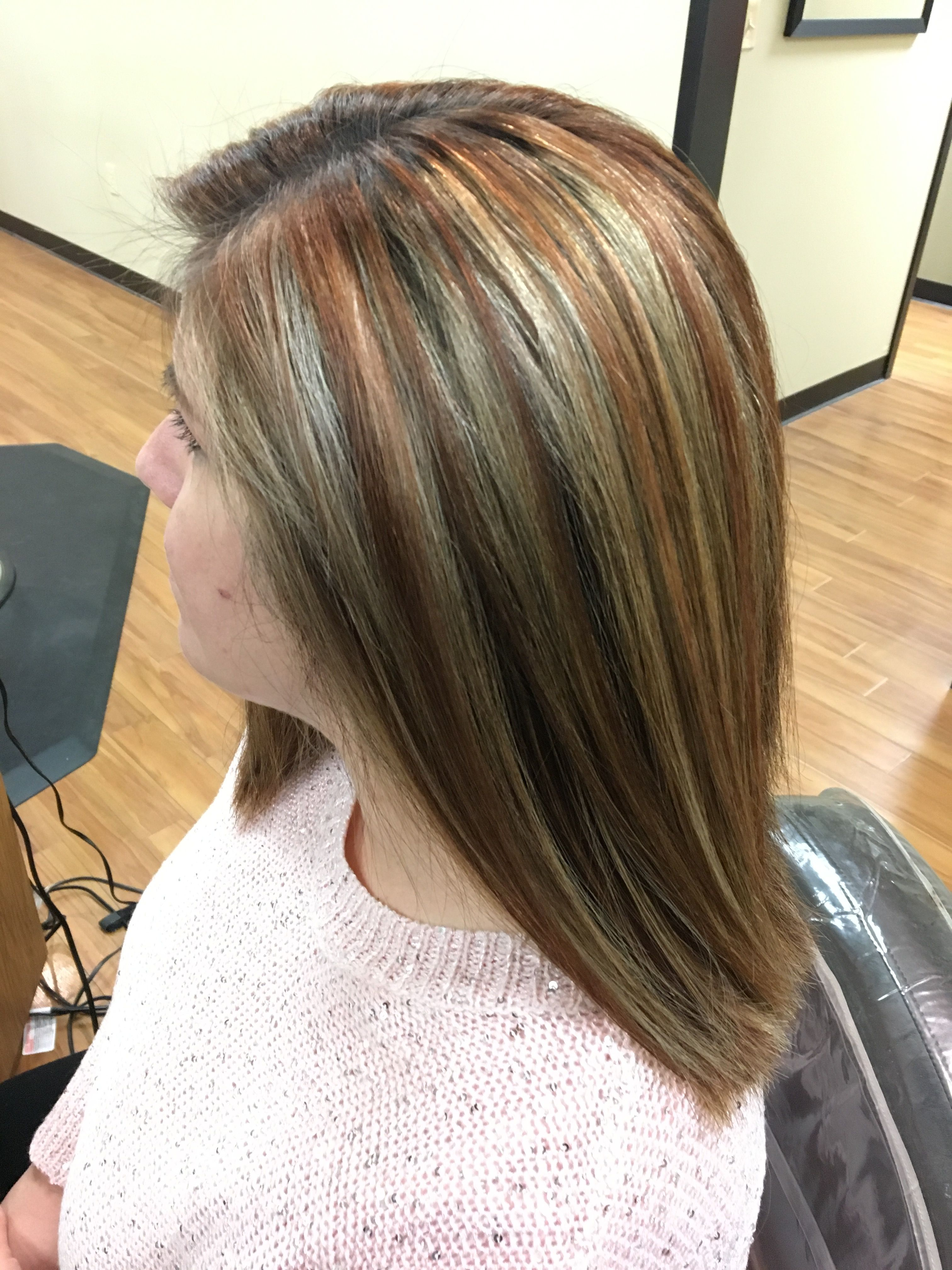 Chocolate, blonde, Carmel, brown copper multi tonal color. Done by ...