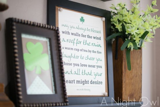 {Project Home} A St. Patrick's Day Mantel