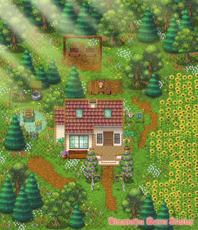 Cottage Garden (RPG Maker Map #2) by Grismalice on