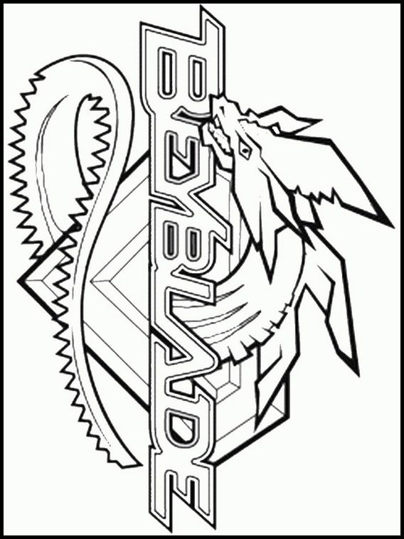 Printable coloring pages for kids Beyblade Burst 8 | BeyBlade Party ...