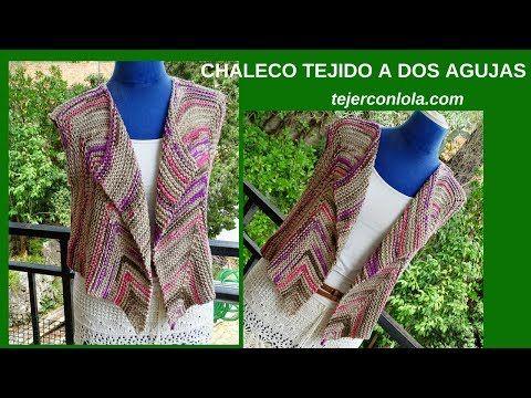 CHAL-BUFANDA DOS AGUJAS - YouTube | chalecos | Pinterest | Dos ...