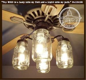 Windmill Chandelier Farmhouse Lighting #kronleuchterauseinmachgläsern