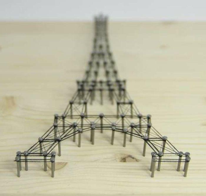 Eifelturm Modell An Der Wand  Originelle Raumgestaltung Ideen