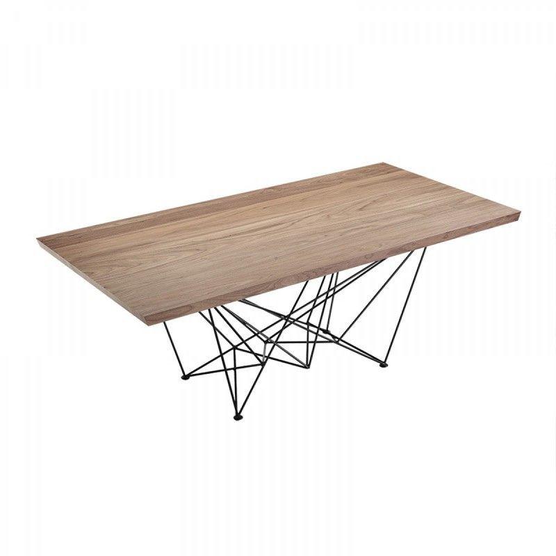 VIG Furniture Modrest Naomi Modern Walnut Dining Table