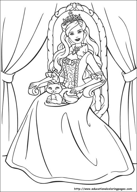 Pin by Liefie Fernandes on Inkleur | Pinterest | Barbie coloring and ...