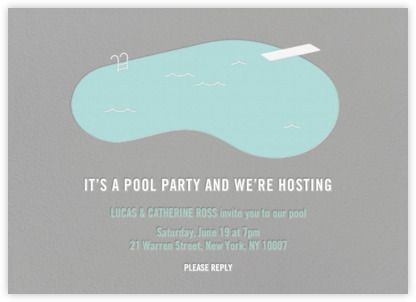 Swimming Pool Jack Spade for Paperless Post Pool party