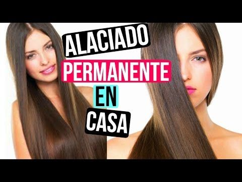 Como alaciar el cabello de manera permante (facil) ✿ Santa - YouTube