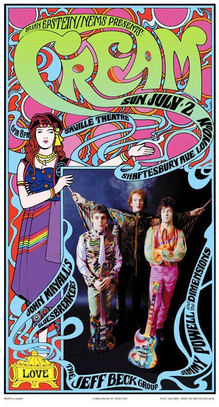 Crème psychédélique au Saville Theatre affiches par BobMasseStudios