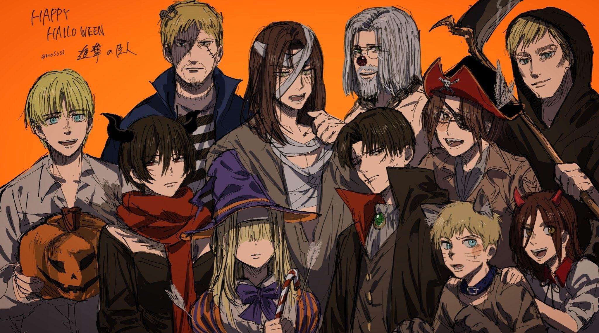 Happy Halloween Attack On Titan Fanart Attack On Titan Cute Anime Wallpaper