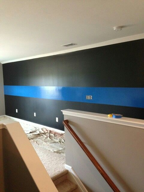 Thin Blue Line Wall The Man Cave Love Our New House