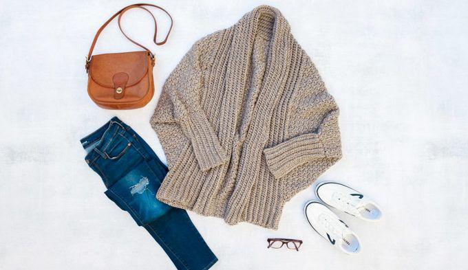 The Habitat Cardigan Free Beginner Crochet Sweater Pattern Part 1