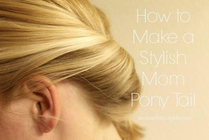 How to Make a Stylish Mom Pony Tail #StyleItYourself #ad @SuaveBeauty http://pinterest.com/suavebeauty