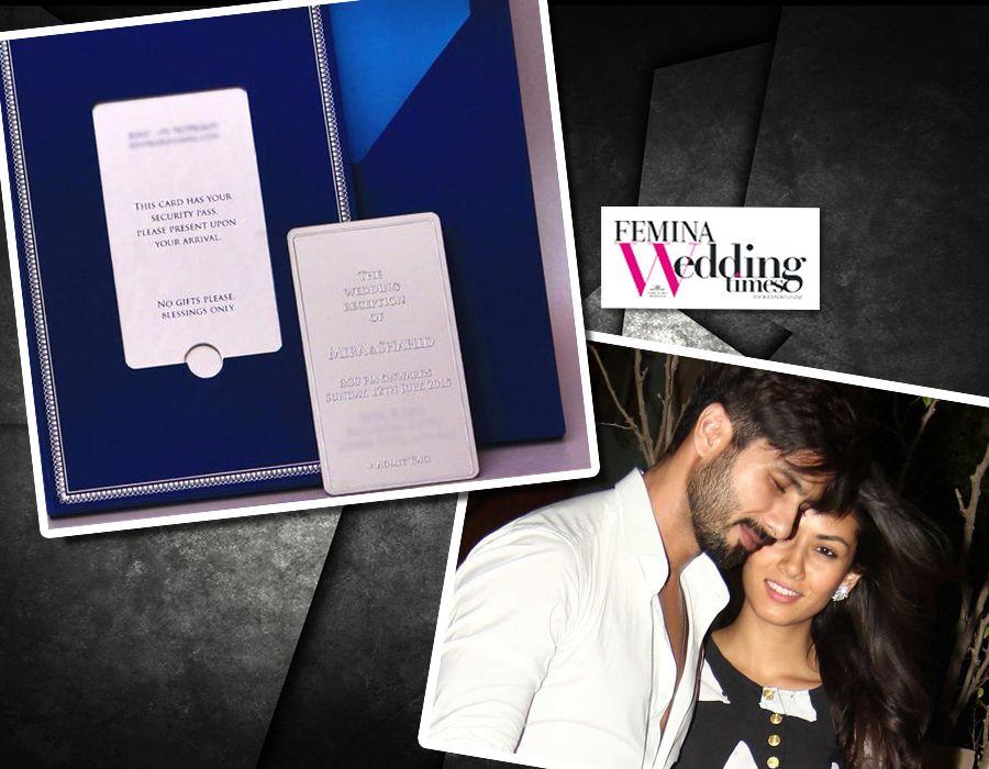 Shahid Kapoor chose a midnight blue wedding invitation for his ...