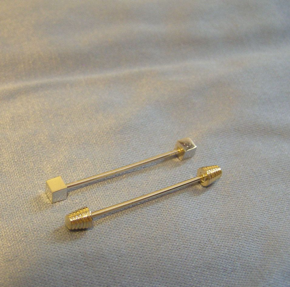 Letter R Typewriter Key Mens Tie Clip Tack Bar
