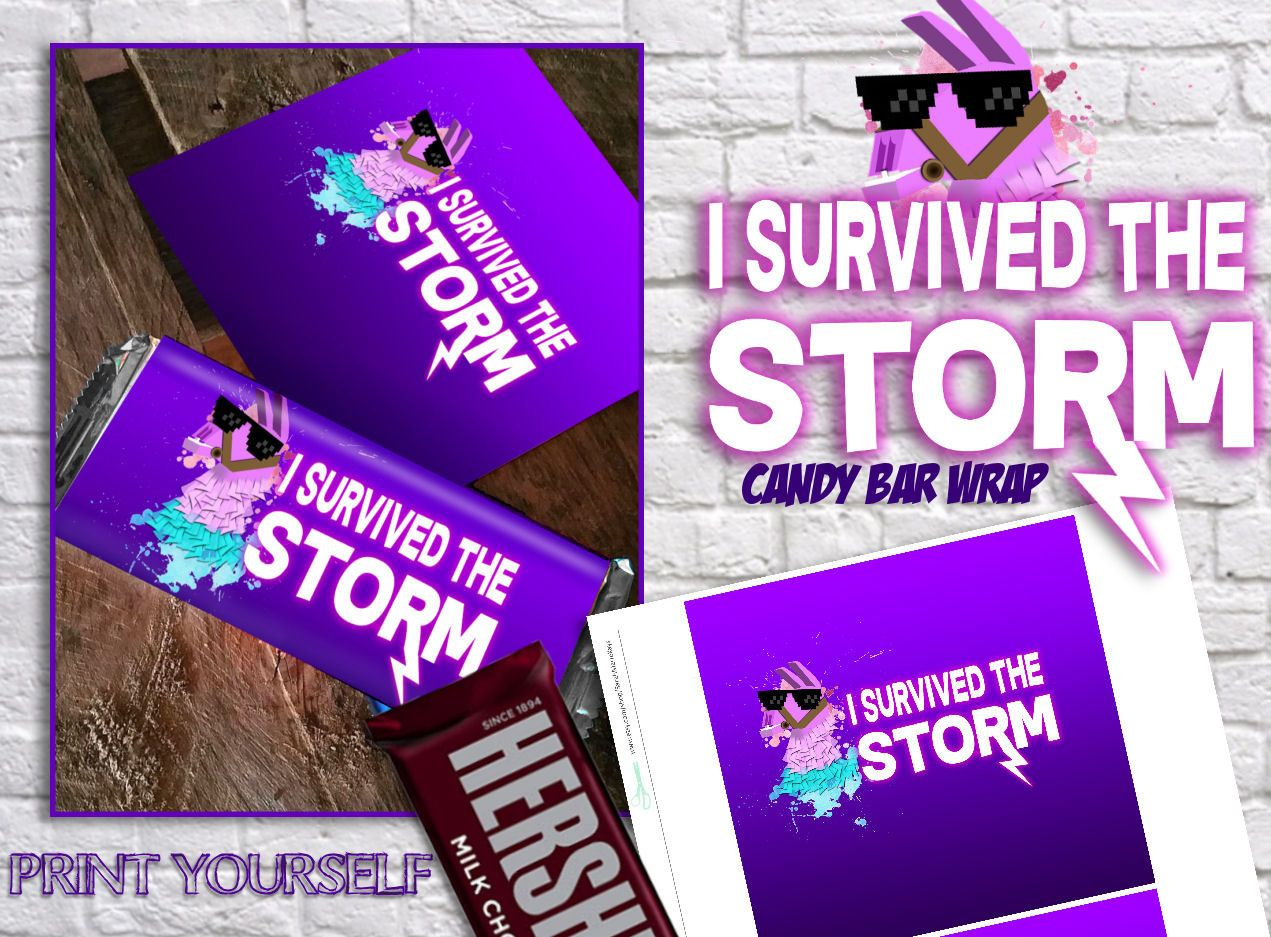 Fortnite Birthday Candy Bar Wrap Printable Party Favor
