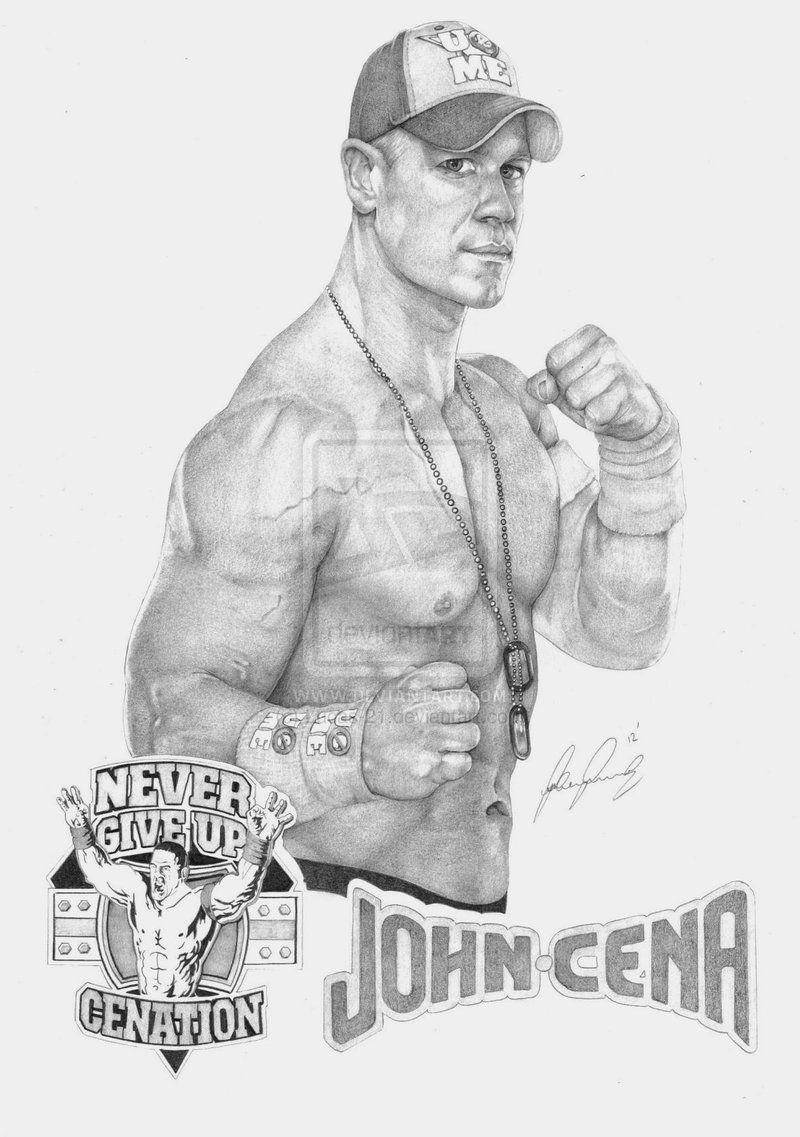 John Cena 2012 by Lucas-21 on deviantART ~ WWE ~ traditional pencil ...