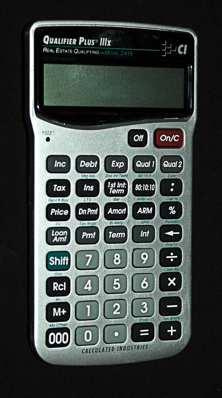 Calculated Industries 3415 Qualifier Plus Real Estate Calculator lllx New