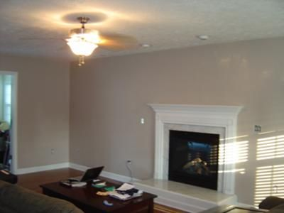 Earthy Taupe wall color This picture is of our family room which we
