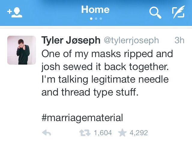 Josh Dun Tweet Tyler Joseph Twitter Twenty One Pilots Twenty