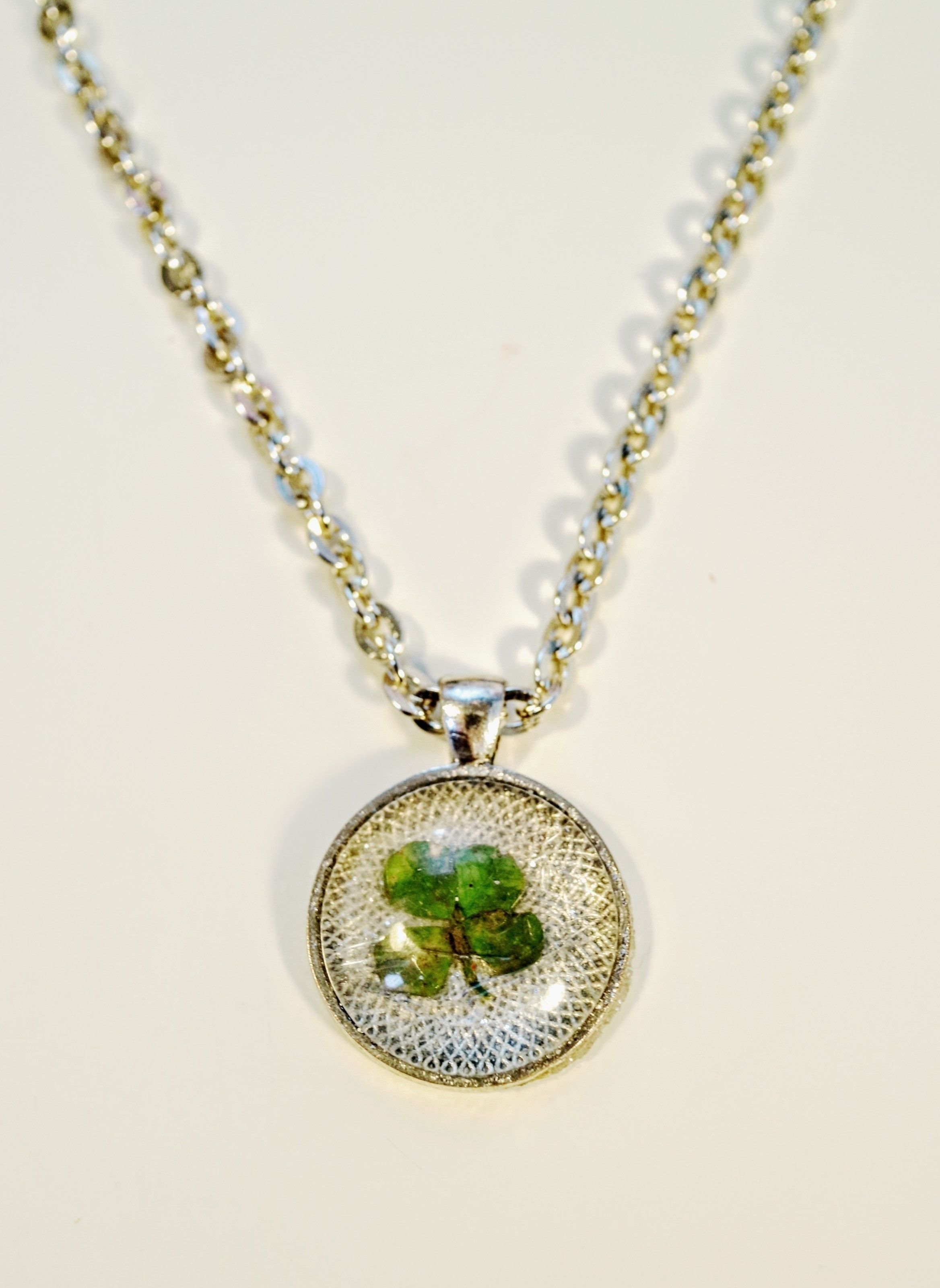sterling silver four shamrock necklace necklaces leaf in clover heart
