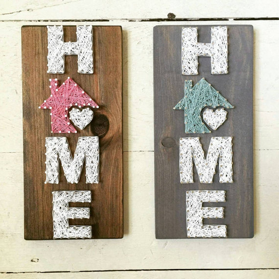 small home string art home is where the heart is home. Black Bedroom Furniture Sets. Home Design Ideas
