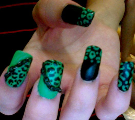 Cheetah Print Chain Nails Illseedilla Pinterest Cheetah Print
