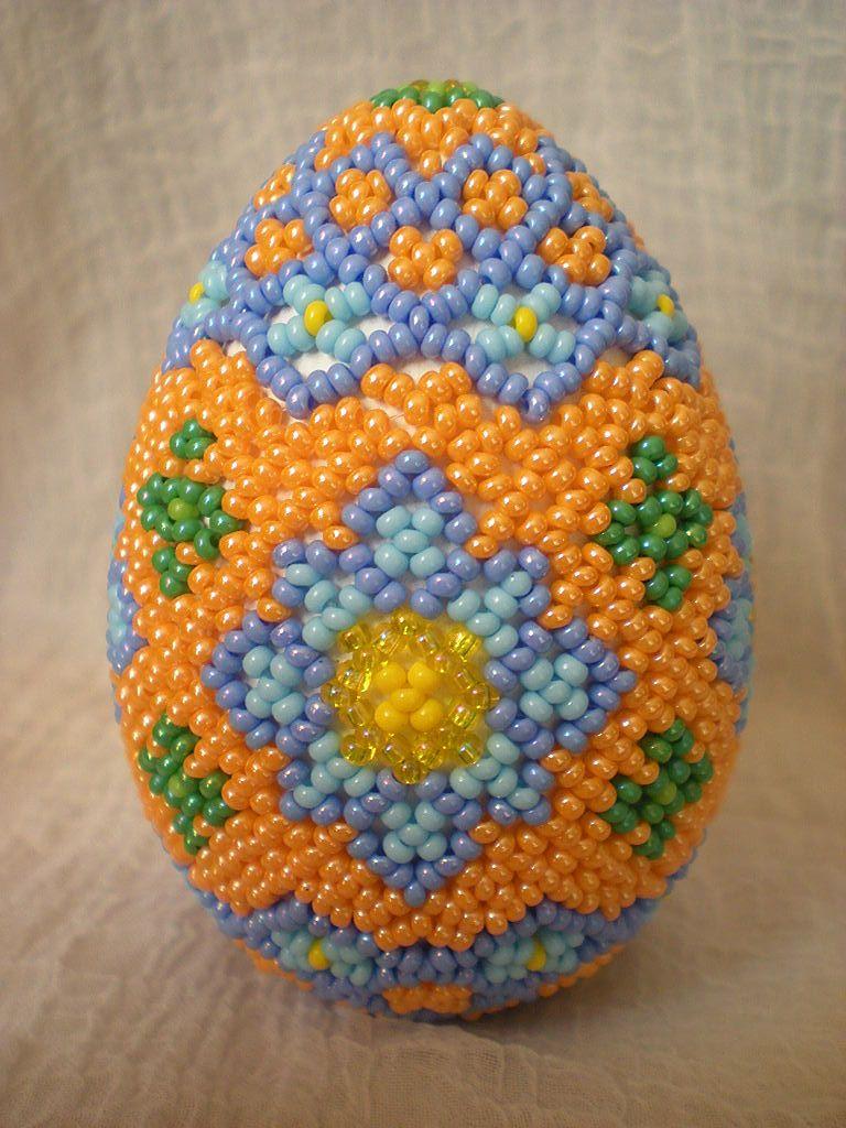 яйцо оплетенное | biser.info - всё о бисере и бисерном творчестве