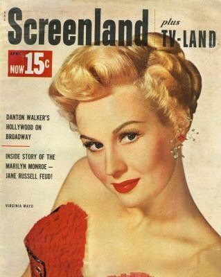 "Virginia Mayo on the cover of ""Screenland"" magazine, USA, April 1953."