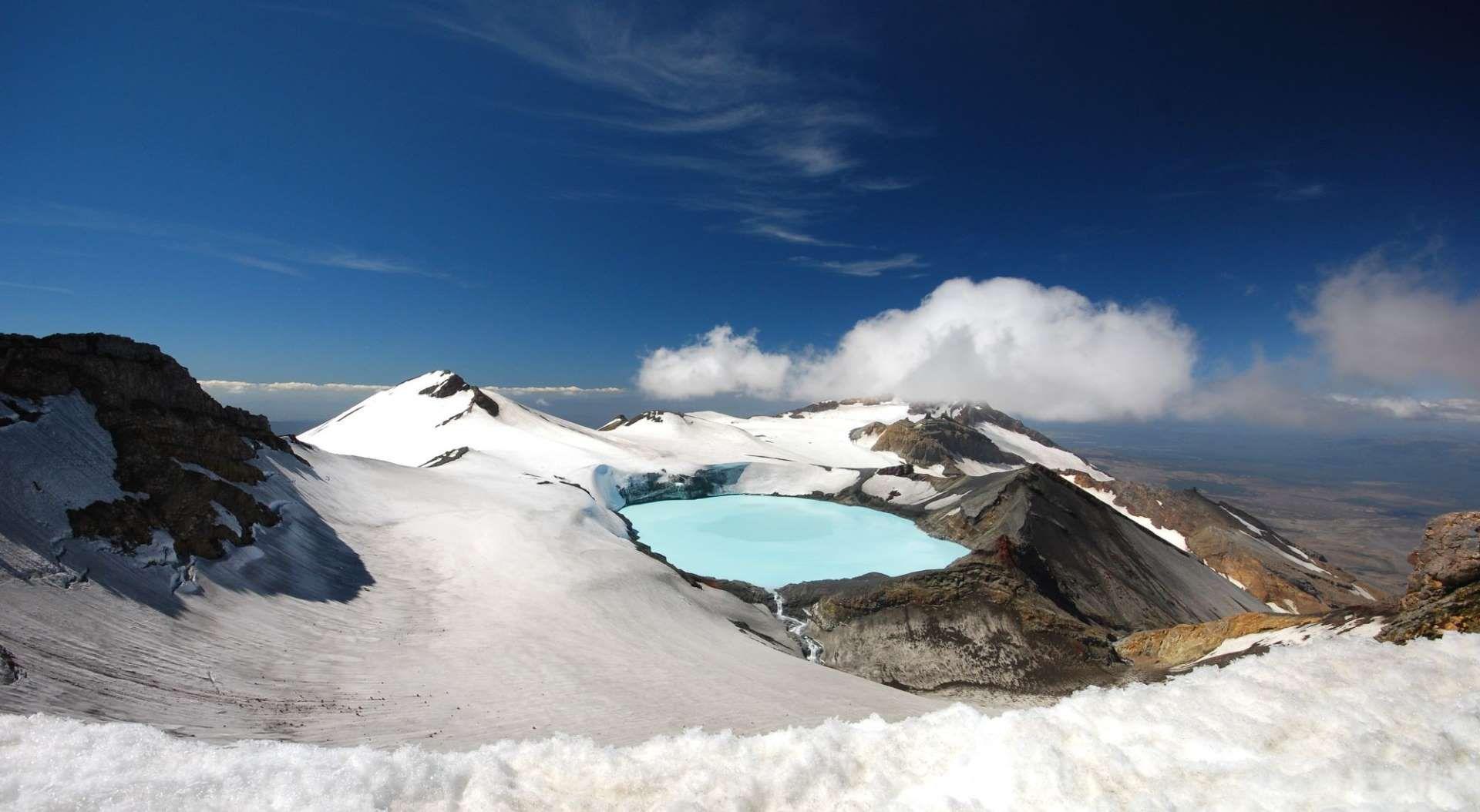 Lago do monte Ruapehu (Nova Zelândia) -